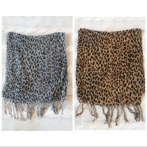 Animal Print Sheer Lightweight Scarf Bundle